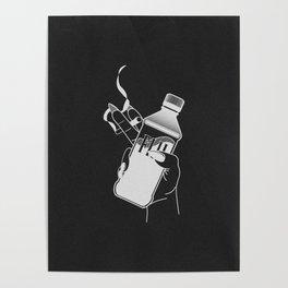 Poise (black) Poster