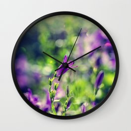 Violet beauty Wall Clock