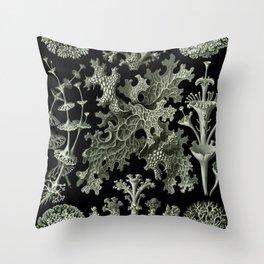 Naturalist Lichen Throw Pillow