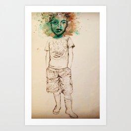 Puppet woman by Jain McKay. Art Print