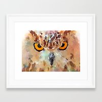 owl Framed Art Prints featuring Owl by contemporary