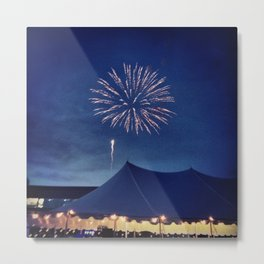 Firework Show Metal Print