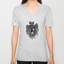 Berlin Bear King Unisex V-Neck