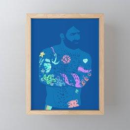 The artist - neon light Framed Mini Art Print