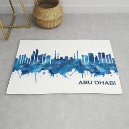 Abu Dhabi UAE Skyline Blue Rug