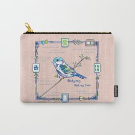 Lovely Sparrow - Mahjong Carry-All Pouch