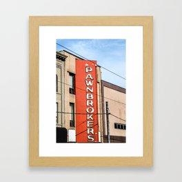 Pawnbroker Framed Art Print