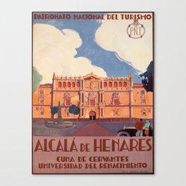 Advertisement alcala de henares pnt cuna de Canvas Print