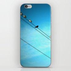 Birds on a Line fine art photography iPhone & iPod Skin