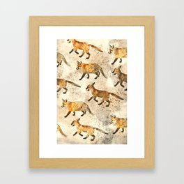 The Red Foxes Framed Art Print