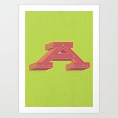The Big A Art Print
