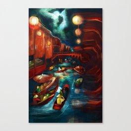 Chinese Moonlight Market Print Canvas Print