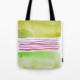 16    |181026 Lines & Color Block | Watercolor Abstract | Modern Watercolor Art Tote Bag