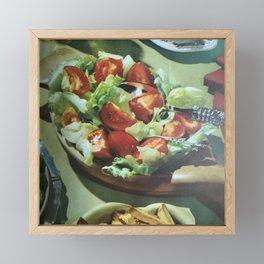 Salad, retro kitchen Framed Mini Art Print