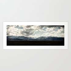 Bridgeport Valley (color) Art Print