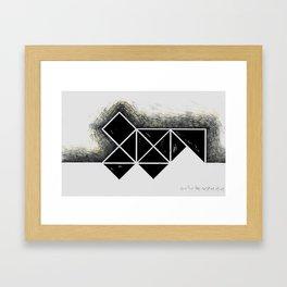 The city of black squares 3 Framed Art Print