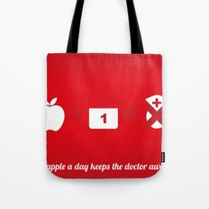 An apple a day keep the doctor away Tote Bag