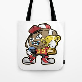 American FOOTBALL CHAMPION Trophy Son Present Tote Bag