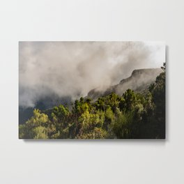 Foggy mountains in the midlands of Madeira Metal Print