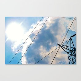 Sky and Lines.  Canvas Print