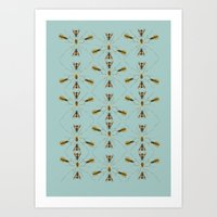 Bugs Calore Art Print