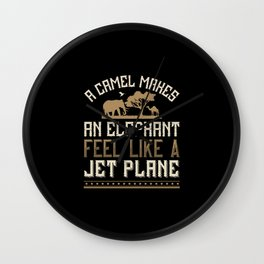 Elephant Quote - 01 Wall Clock