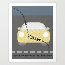 Scrape Art Print