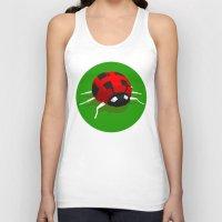 ladybug Tank Tops featuring LADYBUG by Ken Forst