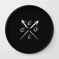 yolo Wall Clocks featuring YOLO by Kenzie N.