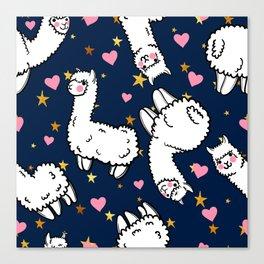 cute alpacas Canvas Print