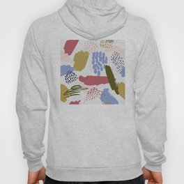 Mid-Century Modern Periwinkle & Rouge Abstract Pattern Hoody
