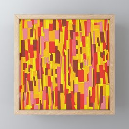 Retro Crackle Glass Pattern in Fiery Colors Framed Mini Art Print