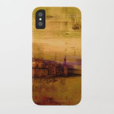 golden abstract landscape Slim Case iPhone X