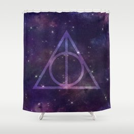 Deathly Hallows in Space Shower Curtain