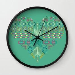 Aztec Heart Wall Clock