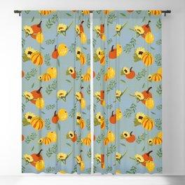 Pumpkins harvest pattern Blackout Curtain