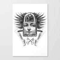virgo Canvas Prints featuring Virgo by Carolina Espinosa