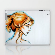 blonde girl Laptop & iPad Skin