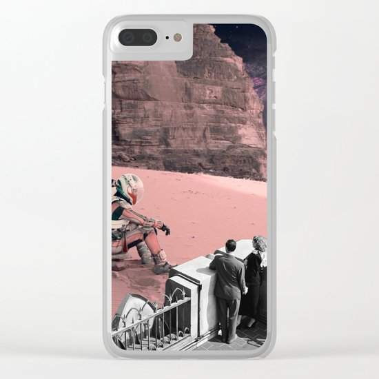 Lonely waiting Clear iPhone Case