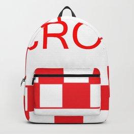 Red chess board Croatia Backpack