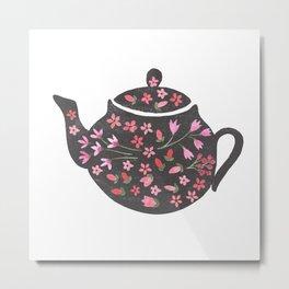 Tea Time Teapot Metal Print
