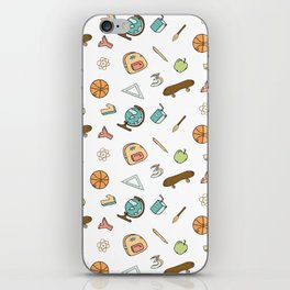 Colorful school pattern iPhone Skin