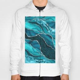 Ocean Waves Marble Teal Hoody