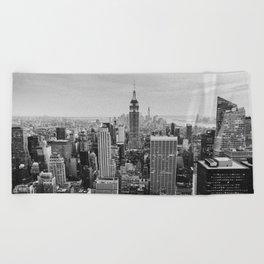 Black & White NYC Skyline Beach Towel