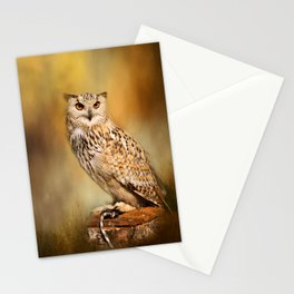 Great Horned Owl Wildlife Photography Stationery Cards