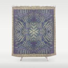 SYMMETRICAL PASTEL PURPLE BRACKEN FERN MANDALA Shower Curtain