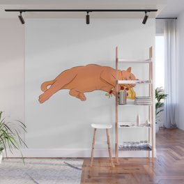 Paws off my pizza! - Perfect drawing for cat and pizza lovers alike Wall Mural