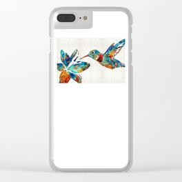 Colorful Hummingbird Art by Sharon Cummings Clear iPhone Case