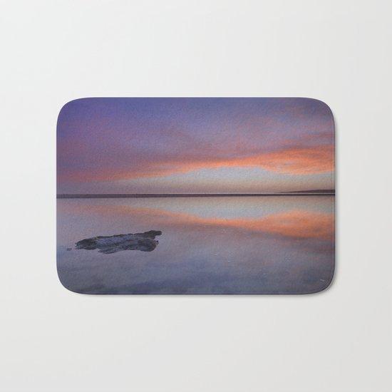 """Purple reflections at the sea"". Bolonia Bath Mat"