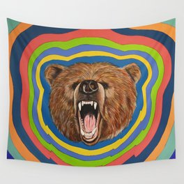 Retro Bear Wall Tapestry